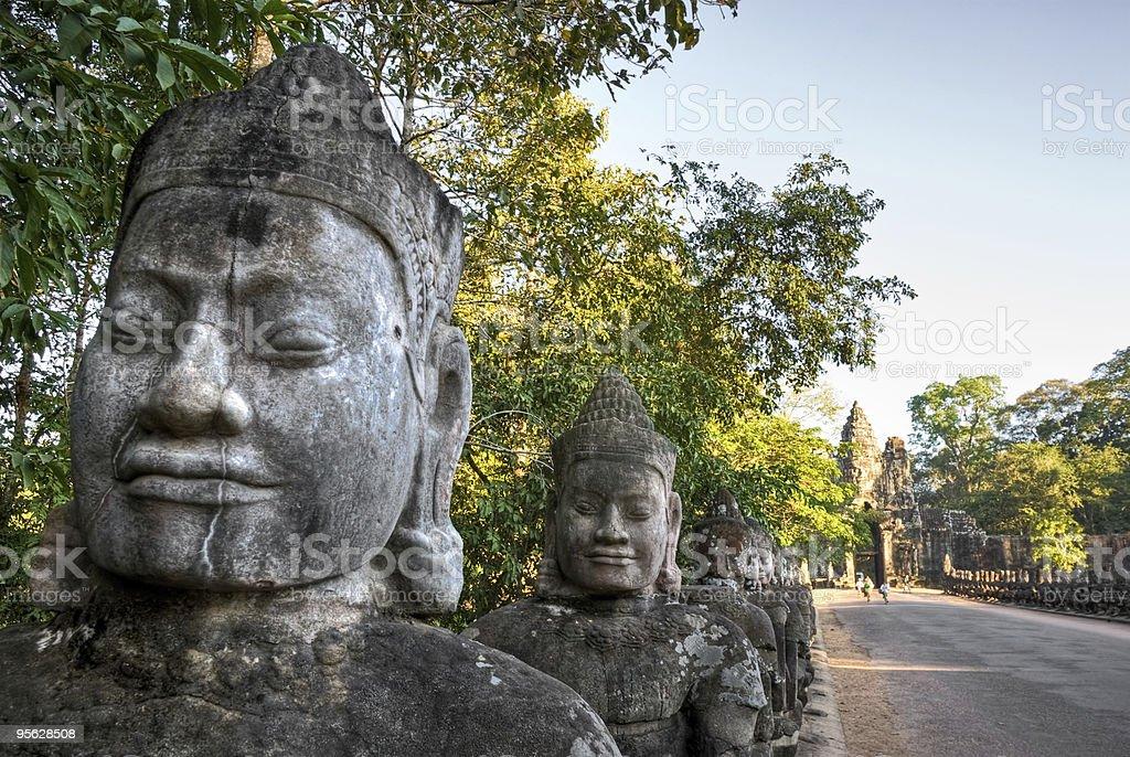 Main entrance of Angkor Thom, Cambodia royalty-free stock photo