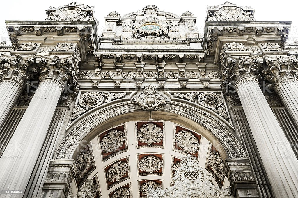 Main entrance of Dolmabahce Palace in Istanbul, Turkey stock photo