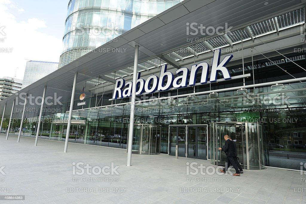 Main entrance of new Rabobank Nederland headquarters in Utrecht stock photo