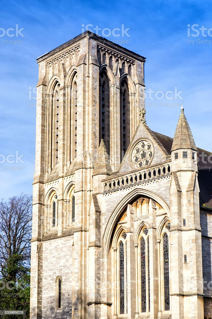 Main entrance of St Stephen?€™s church in Bournemouth stock photo