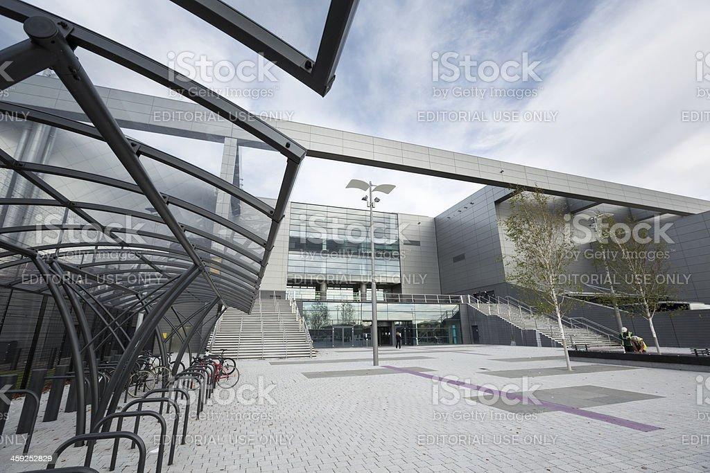 Main Entrance of the Sir Chris Hoy Velodrome, Glasgow stock photo