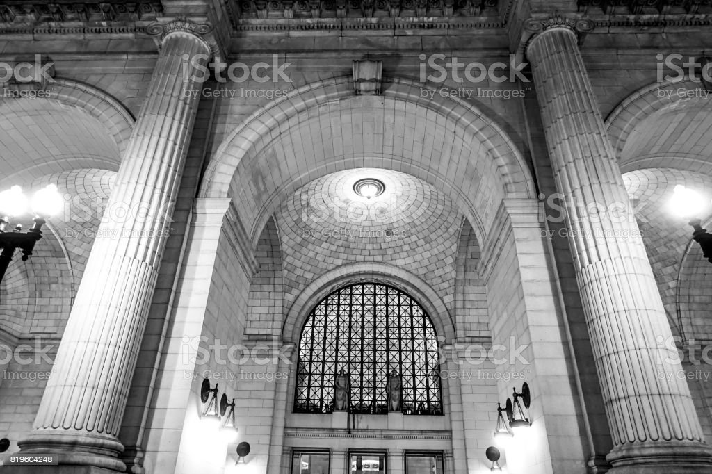 Main Entrance of Union Station in Washington stock photo