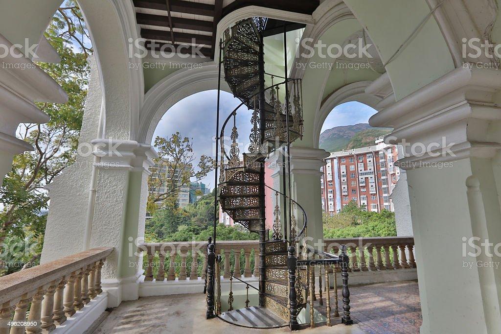 main entrance stairs of university hall stock photo