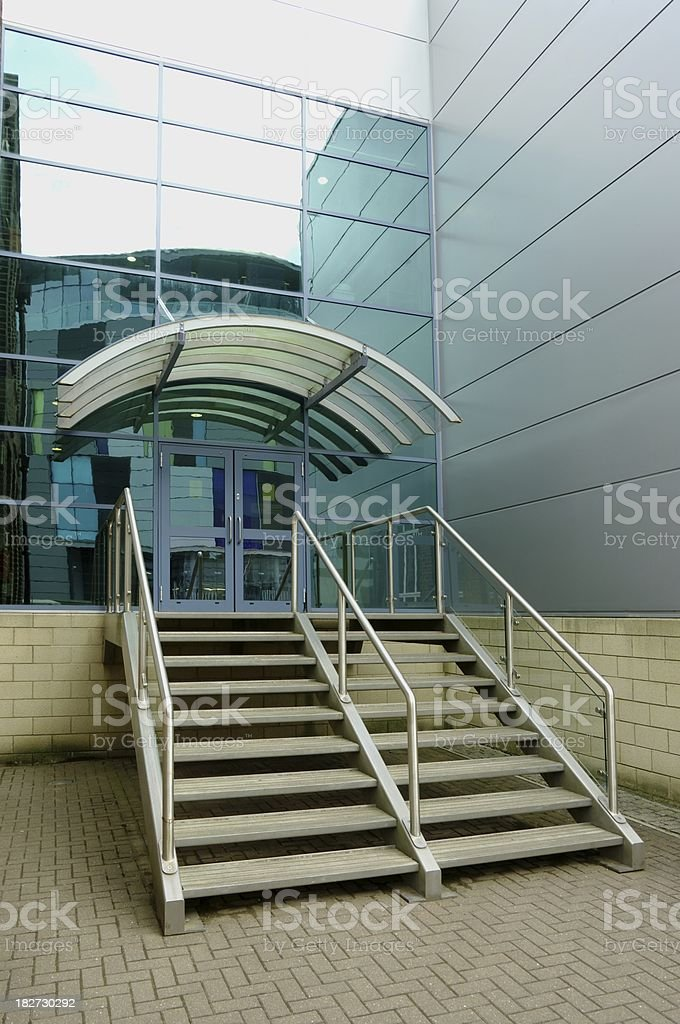 Main entrance to a contemporary office building royalty-free stock photo