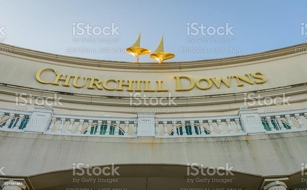 Main Entrance to Churchill Downs stock photo