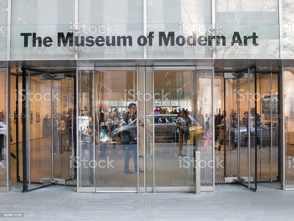 Main entrance to the MoMA New York stock photo