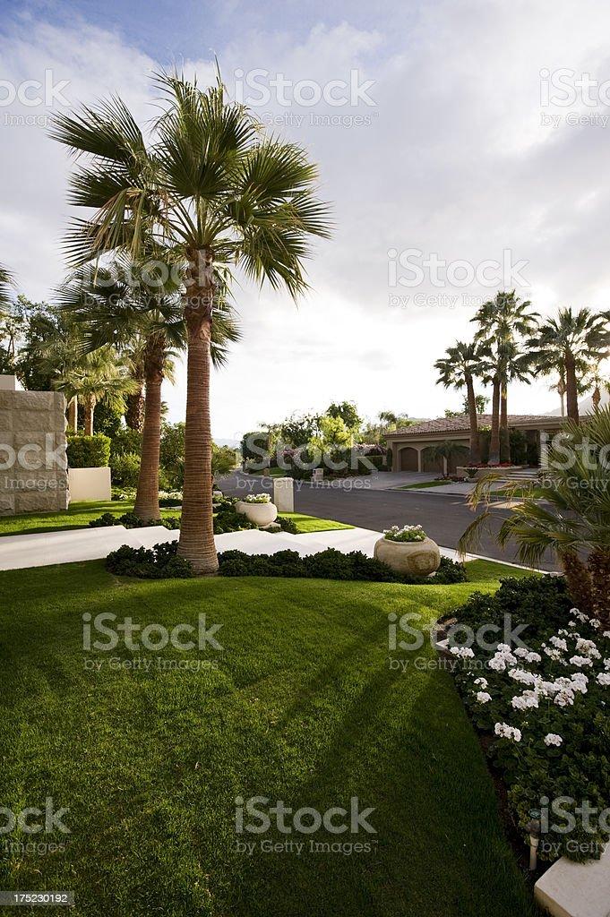 main entry, desert home, sunlight royalty-free stock photo