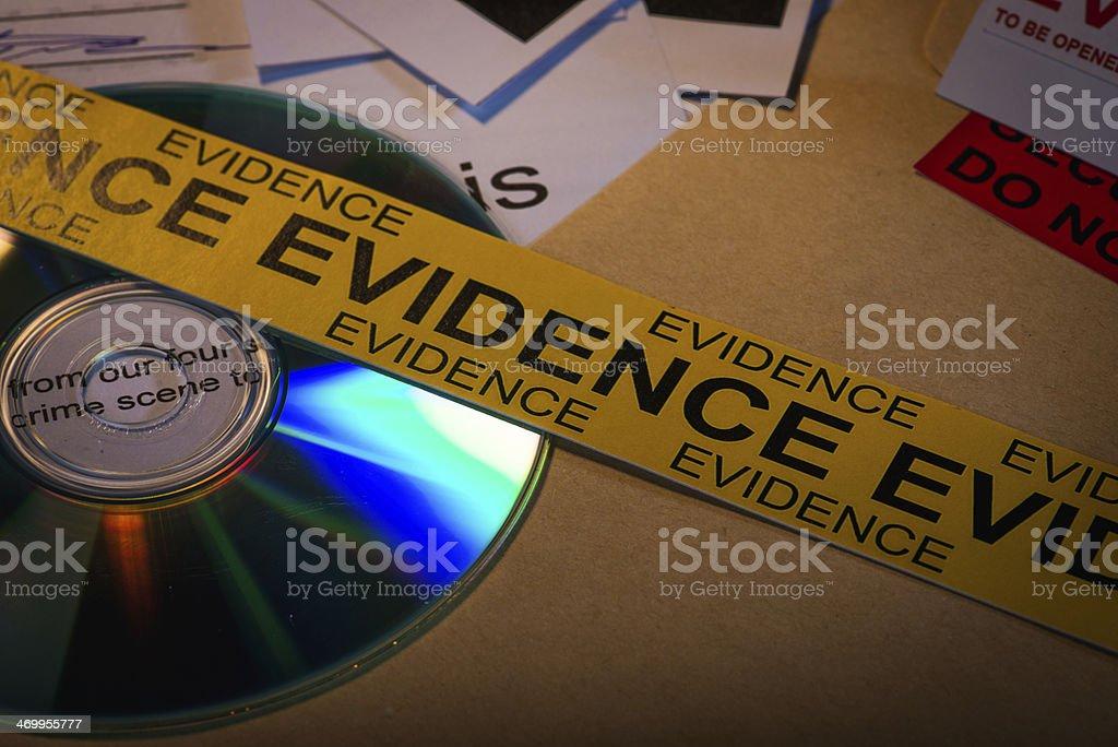 Main evidence stock photo
