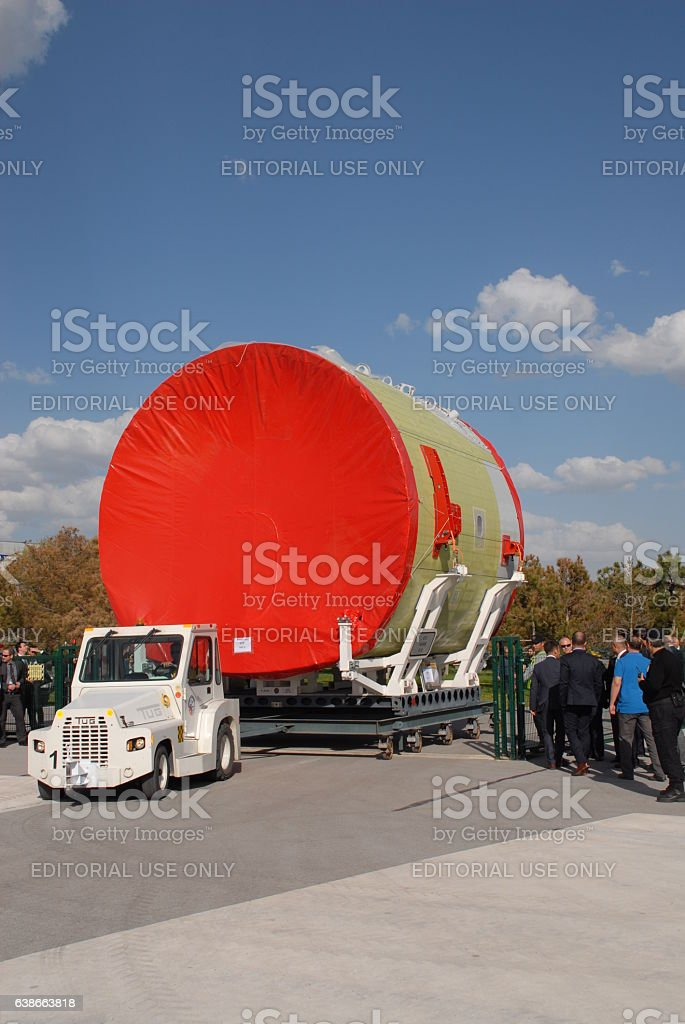 Main fuselage barrel stock photo