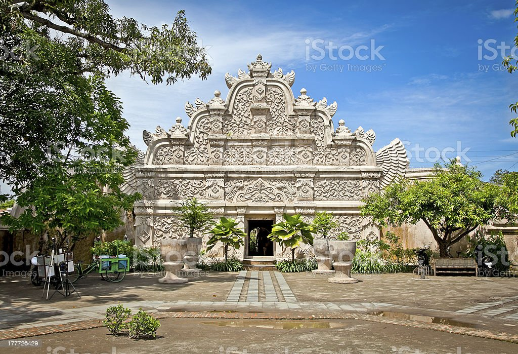 Main gate at Taman Sari water castle ,Yogyakatra. Indonesia. stock photo
