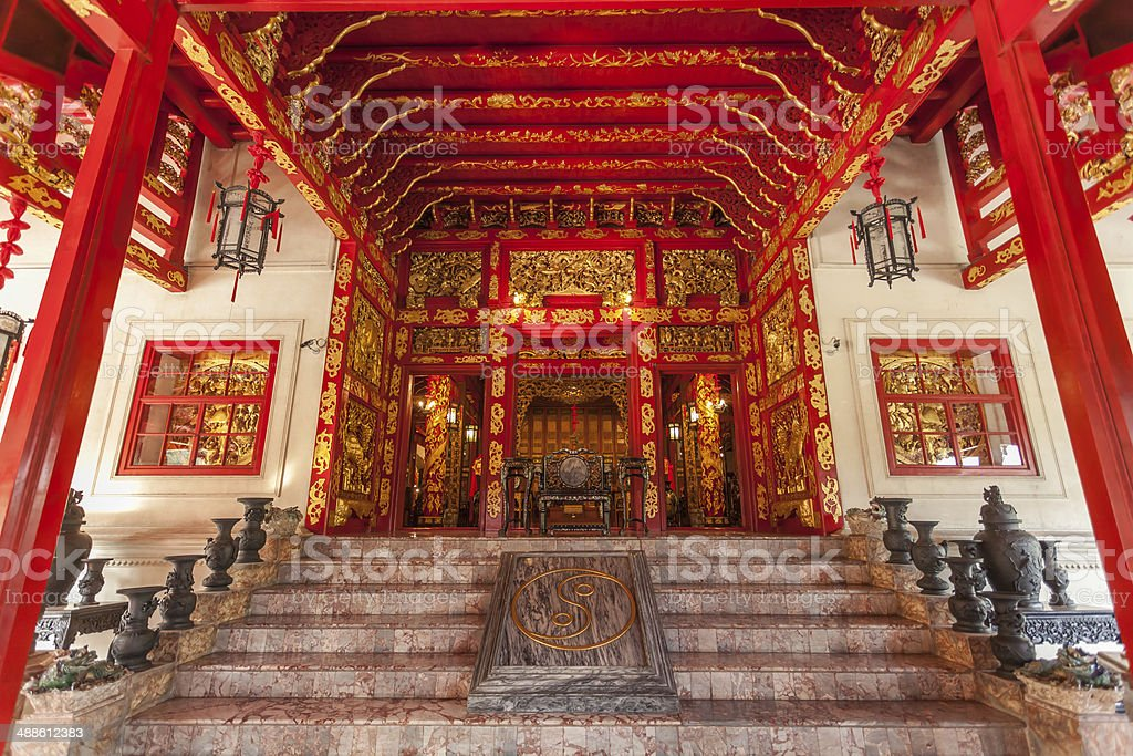 Main gate of Phra Thinang Wehart Chamrun stock photo