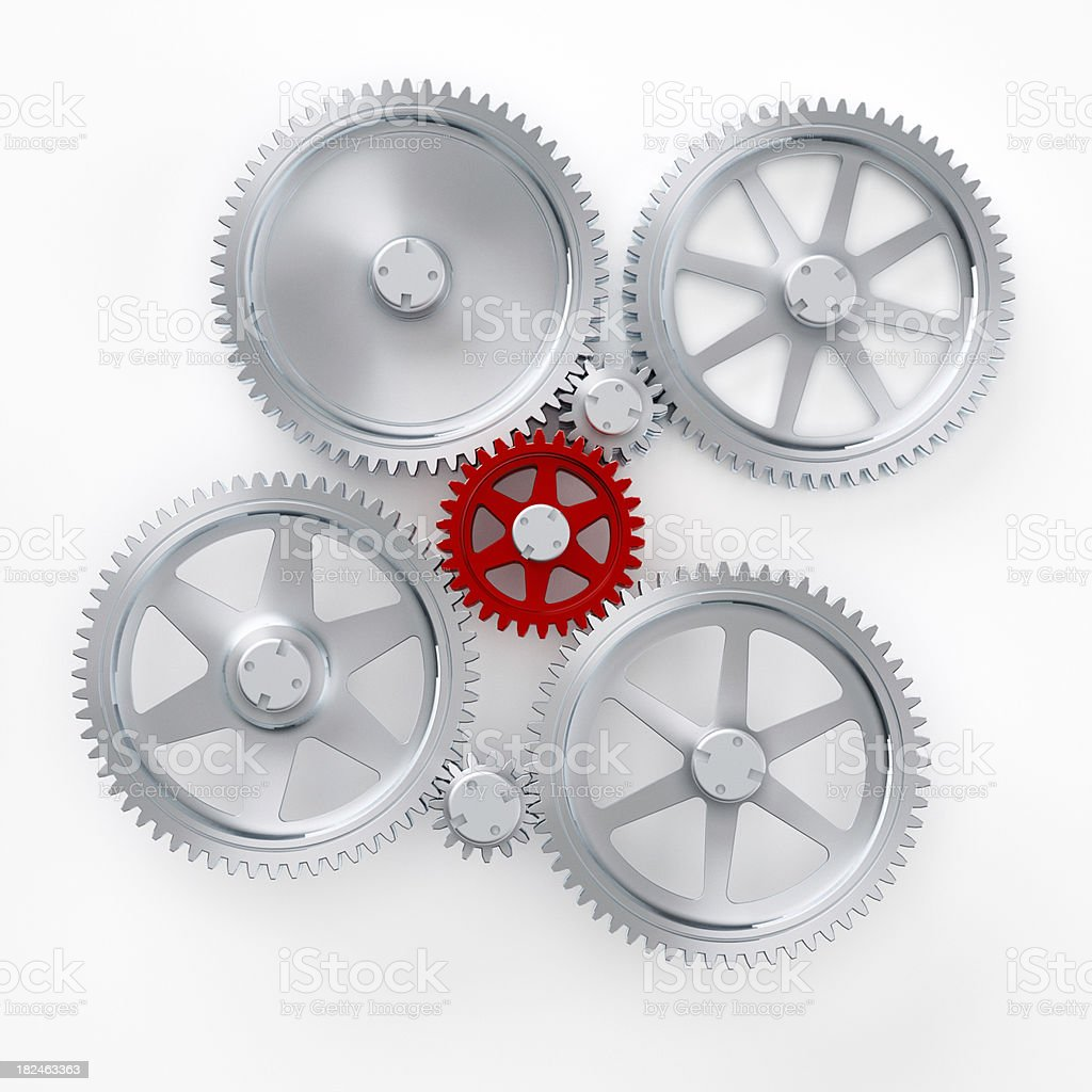 Main gear in an abstract machine stock photo