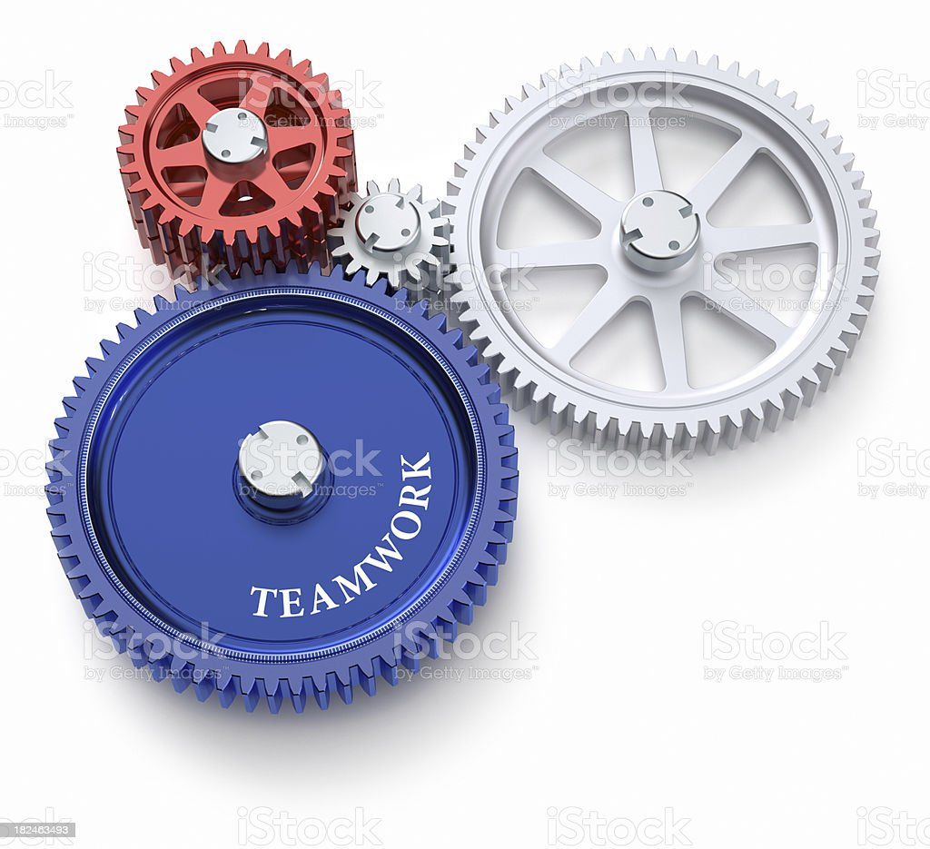 Main gear in an abstract machine royalty-free stock photo