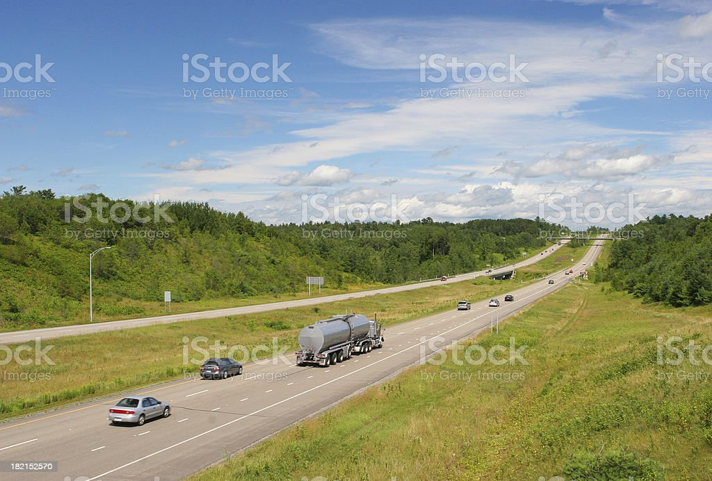 Main Interstate Highway royalty-free stock photo