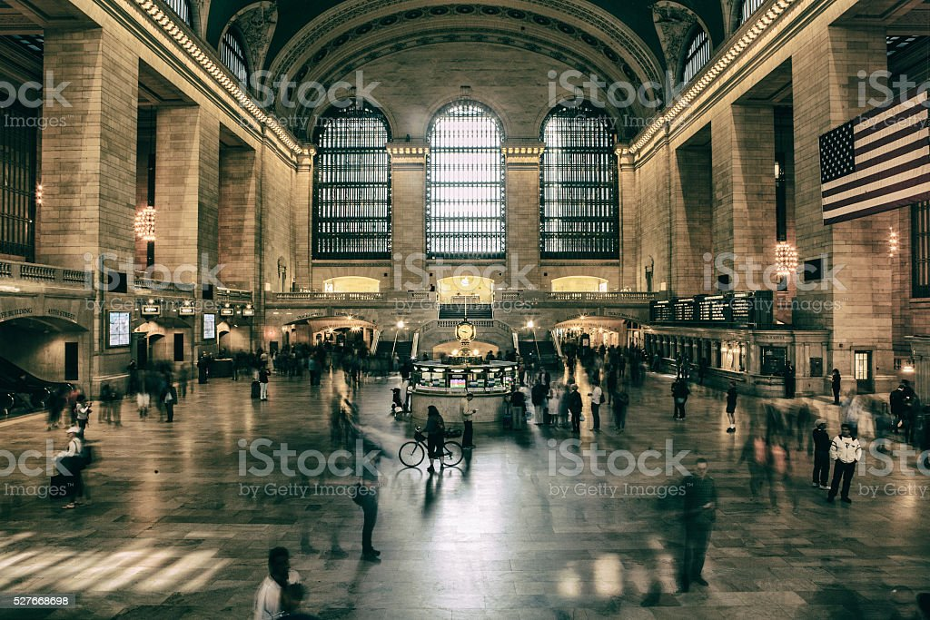 Main lobby at Grand Central in New York City stock photo