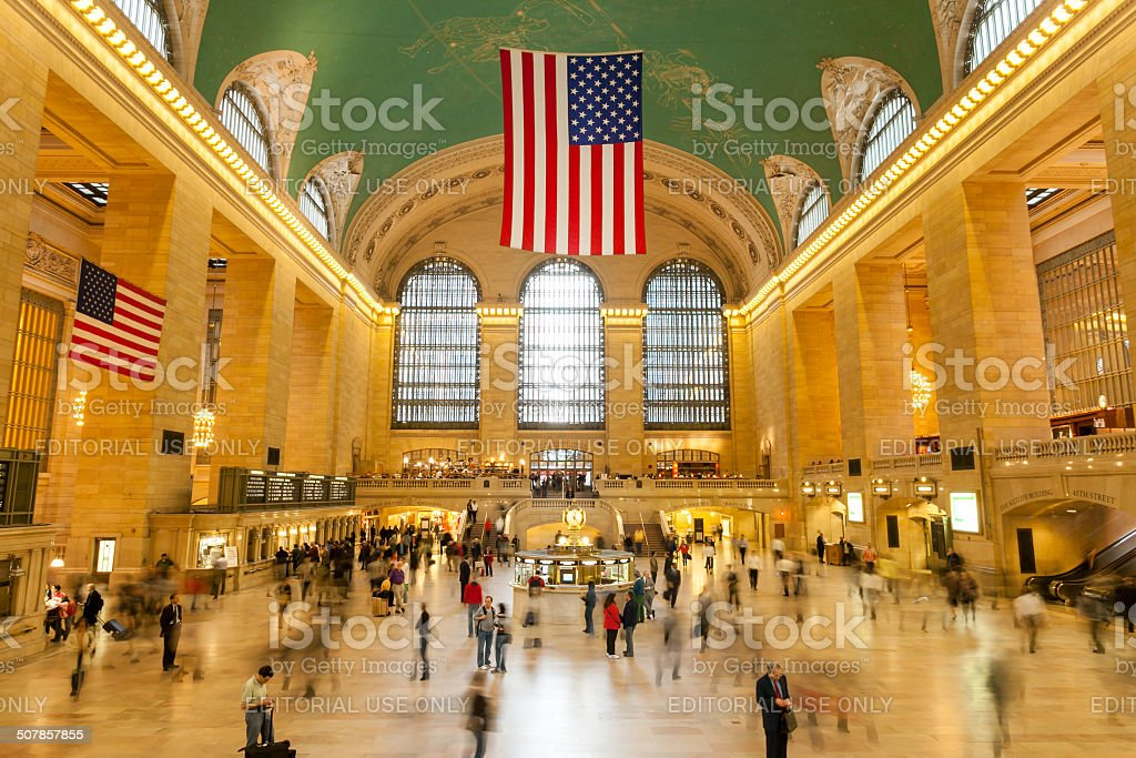 Main lobby at Grand Central Terminal in New York City stock photo