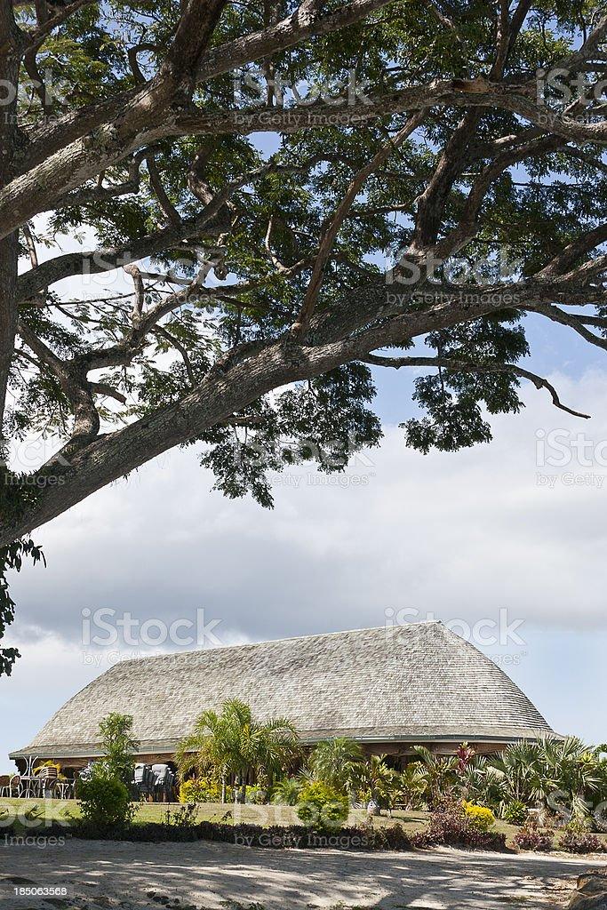 Main Meeting Fale, Samoa royalty-free stock photo