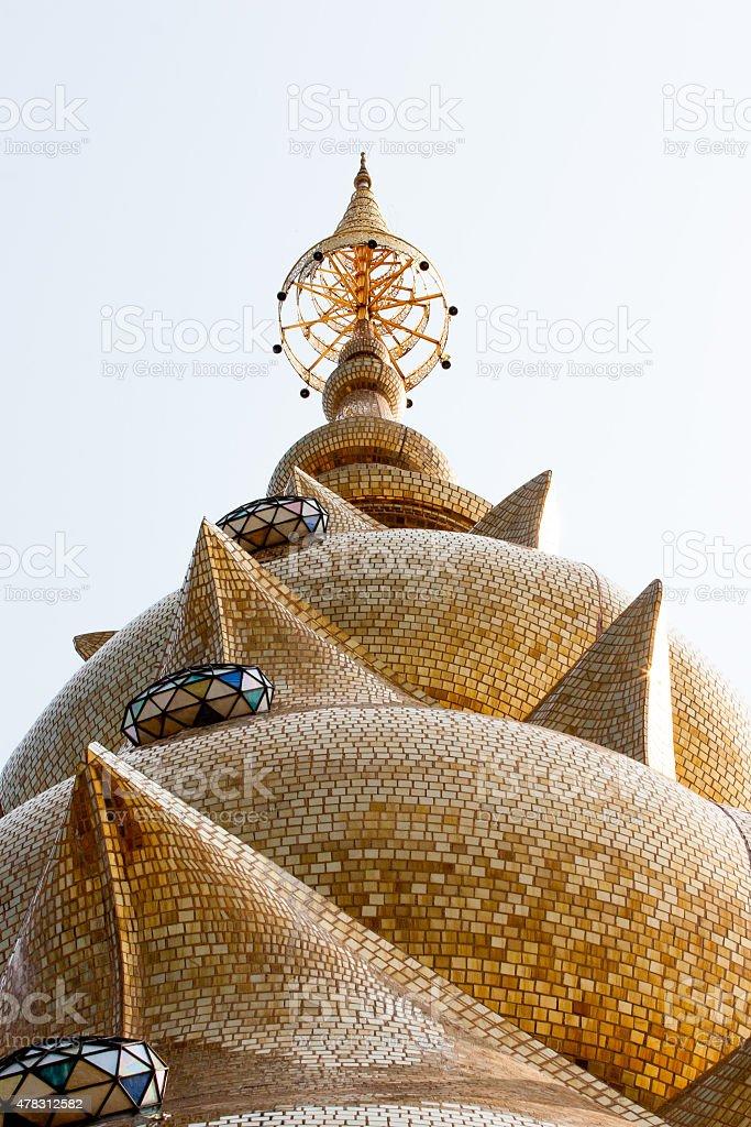 Main pagoda of Phathatpakhew temple stock photo