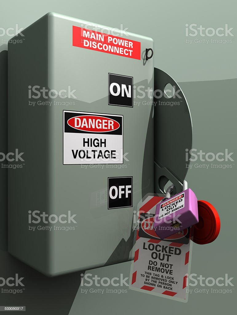 Main Power Disconnect stock photo
