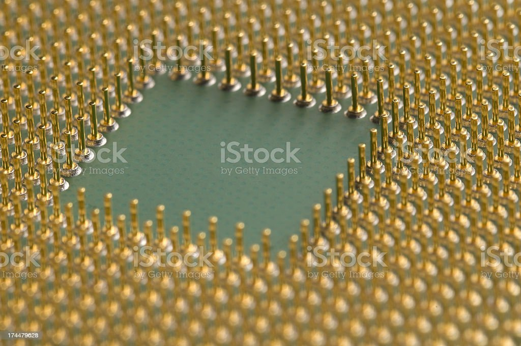 Main Processor of a Laptop Computer royalty-free stock photo