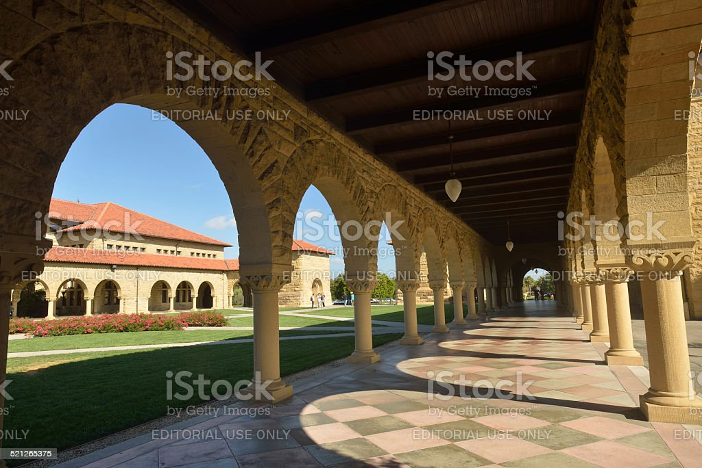 Main Quad Architecture in Stanford University stock photo