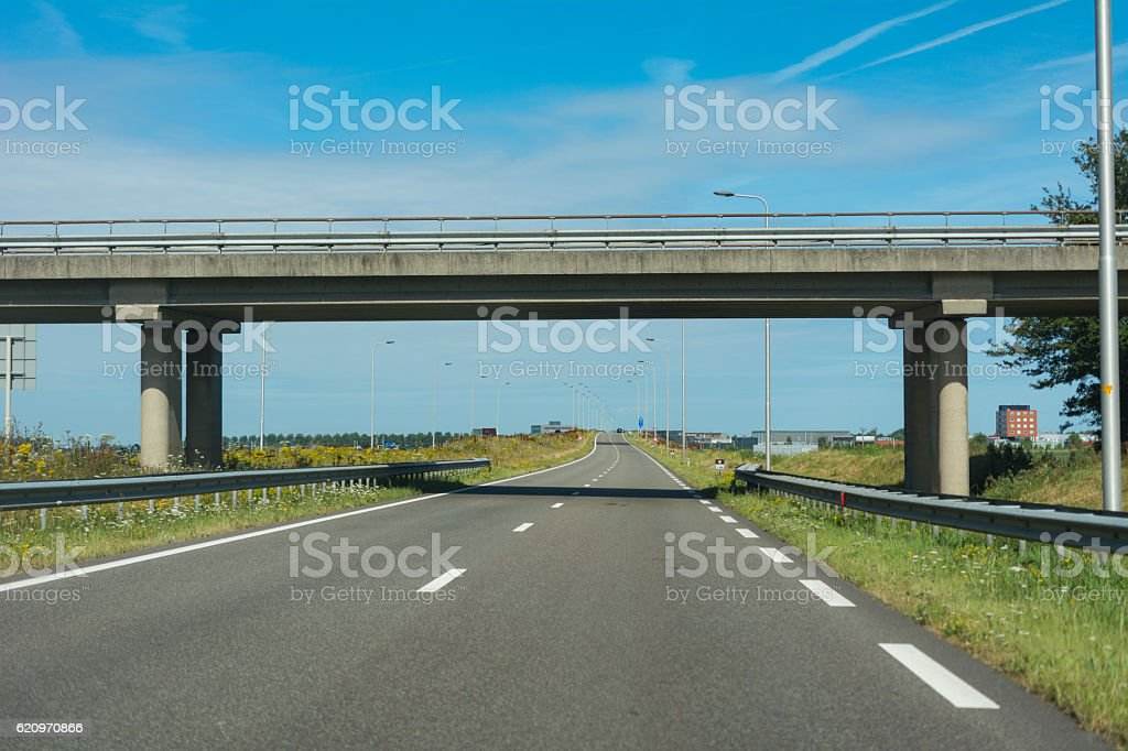 Main road flyover stock photo