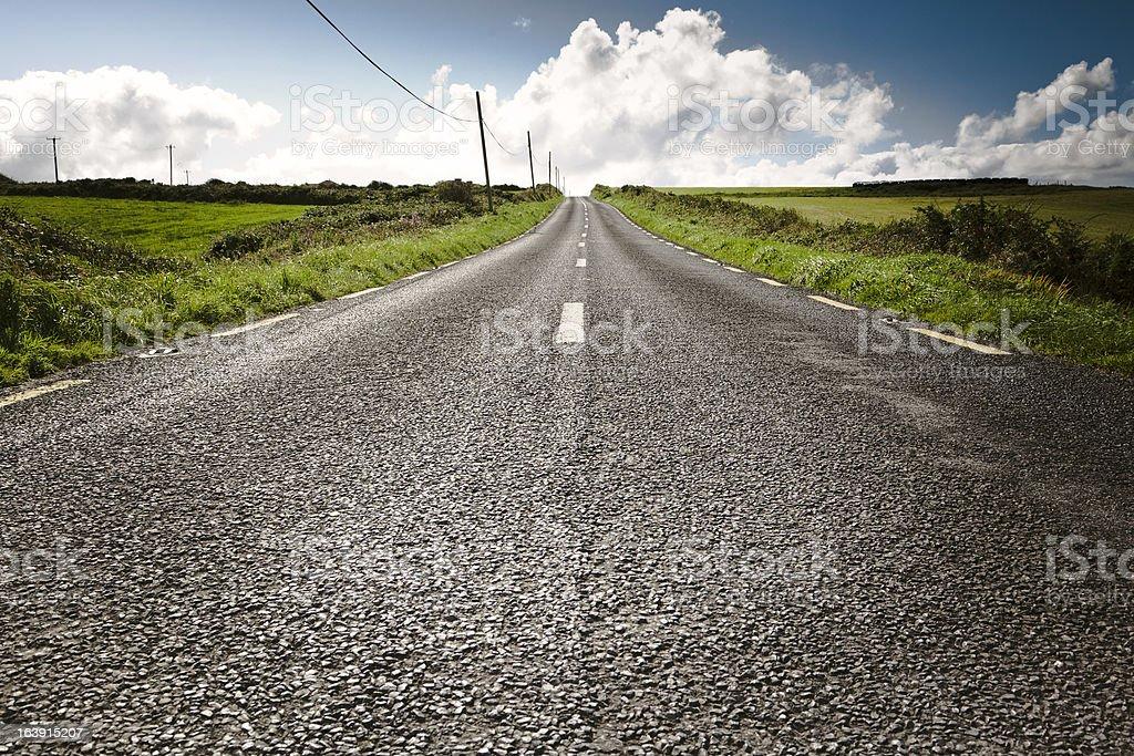 Main Road Under Sunny Day royalty-free stock photo