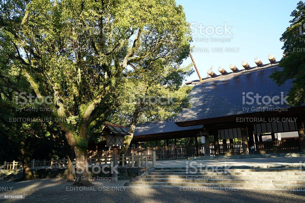 Main Shrine of Atsuta shrine stock photo