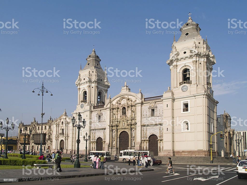 Plaza de armas at Lima, Peru stock photo