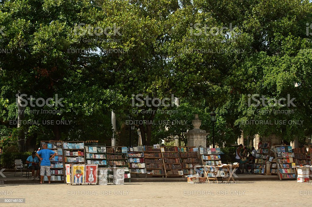 Plaza de Armas Bookmarket - Havana stock photo