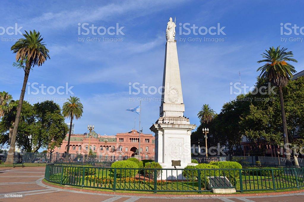 Main Square, Buenos Aires, Argentina stock photo