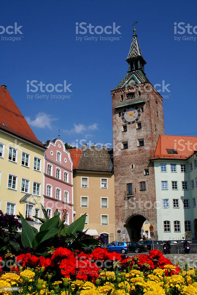 main square flowers royalty-free stock photo