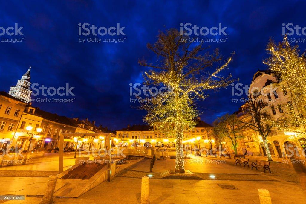Main Square in Bielsko-Biala stock photo