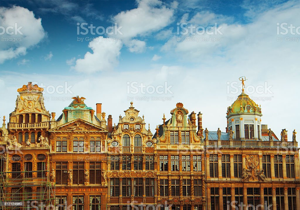 main square of Brussels, Belgium stock photo