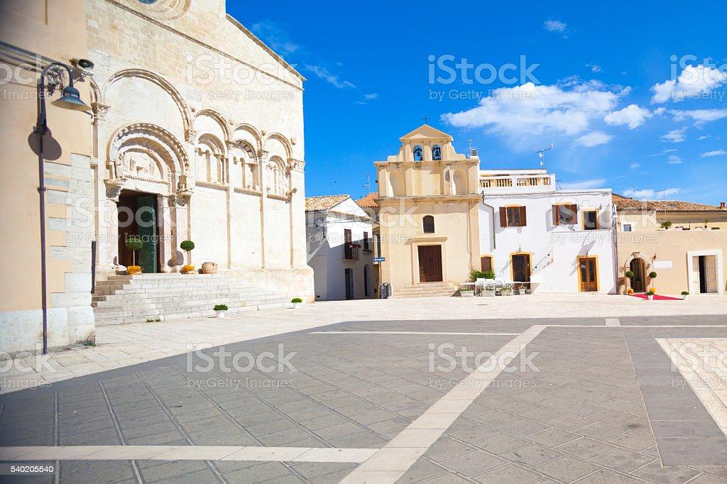 Main square of Termoli, Molise stock photo
