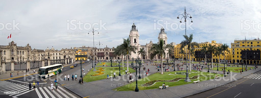 Plaza de Armas stock photo