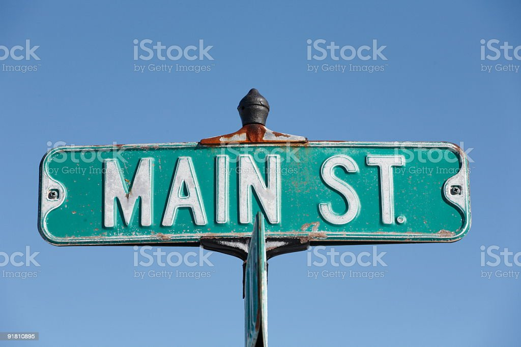Main St. stock photo