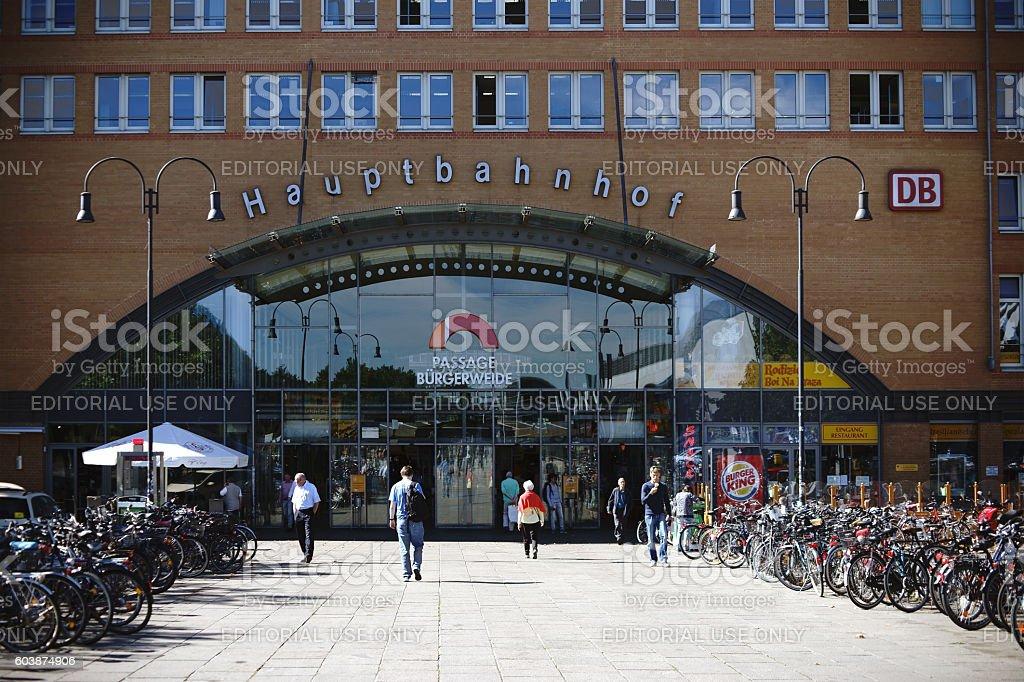Main Station Bremen stock photo