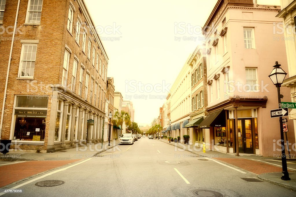 Main Street, Charleston - South Carolina stock photo