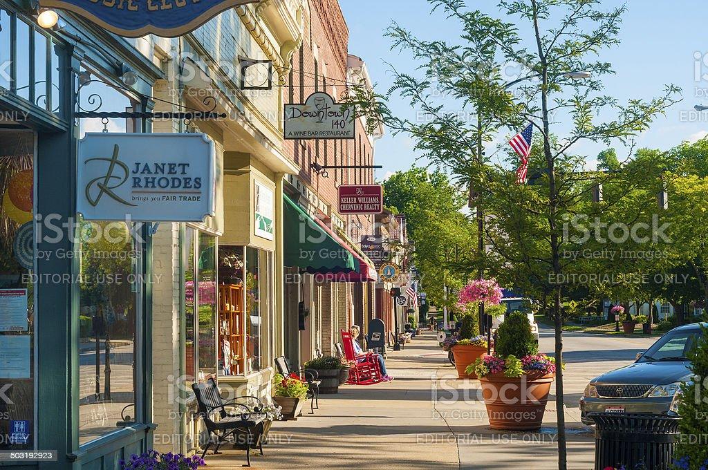 Main Street charm stock photo