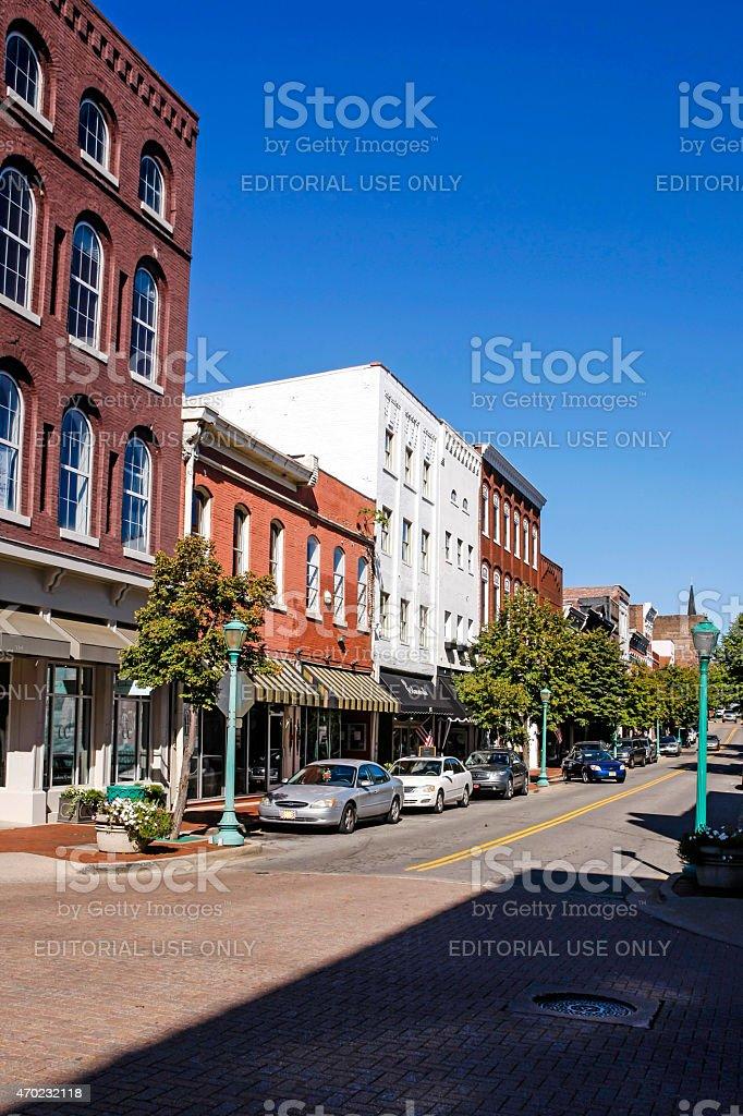Main Street, Clarksville Tennessee stock photo