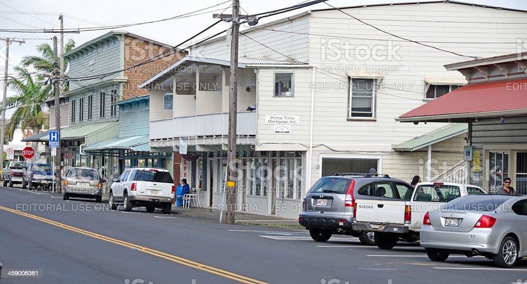 Main Street, Honokaa stock photo