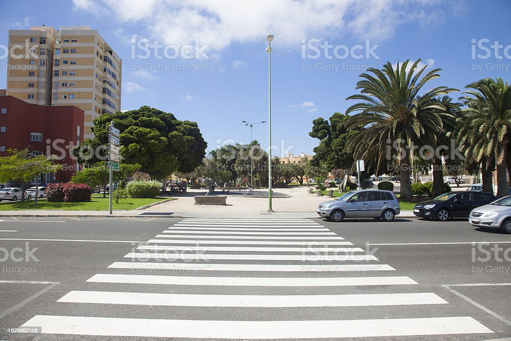 Main Street in Las Palmas royalty-free stock photo
