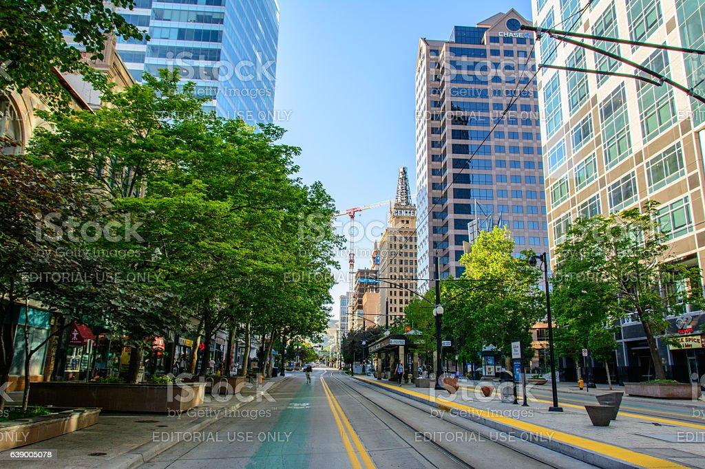 Main Street in Salt Lake City stock photo