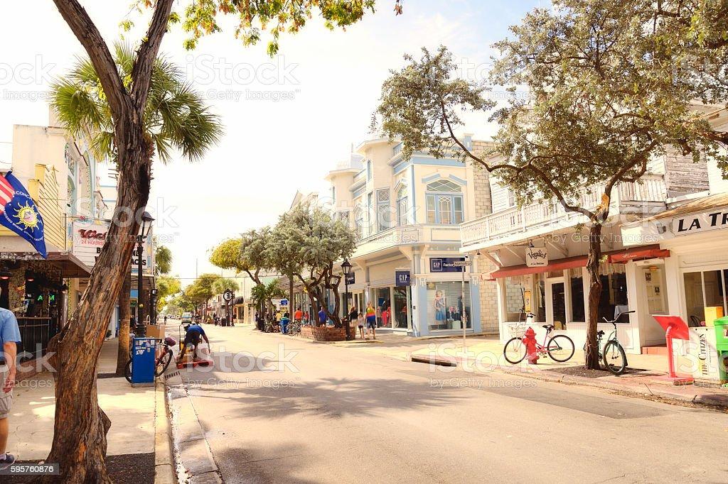 Main street, Key West stock photo