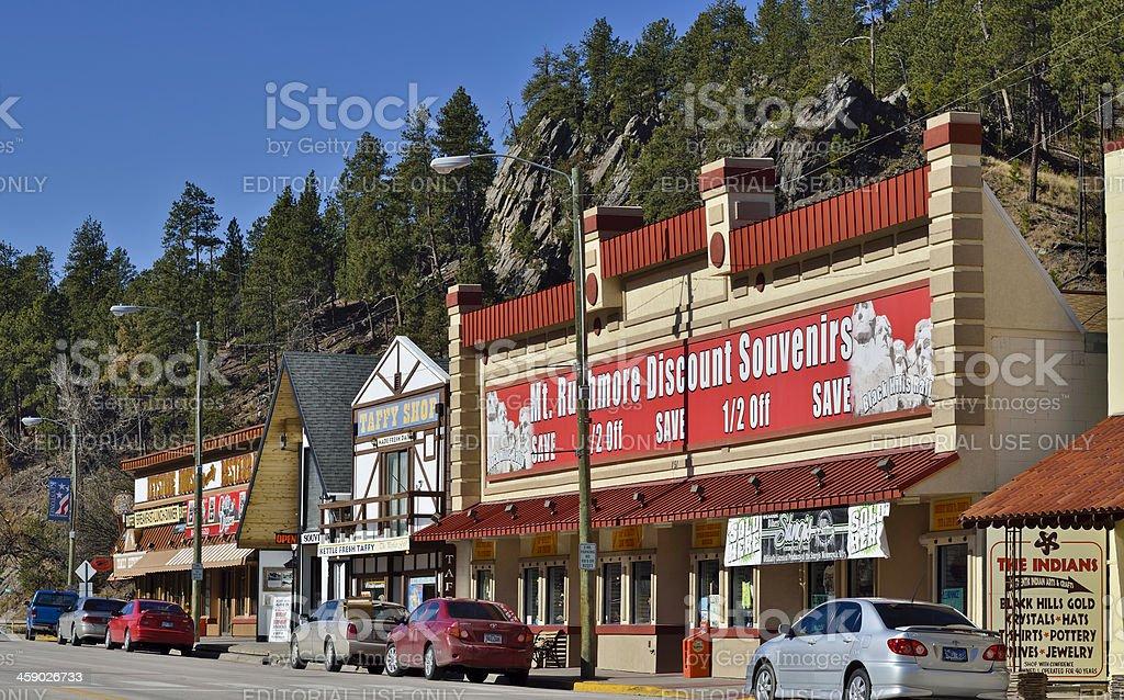 Main Street, Keystone, South Dakota royalty-free stock photo
