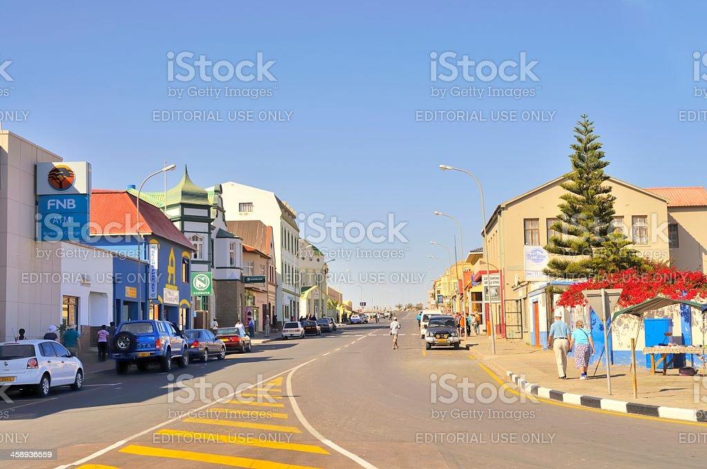 Main Street Luderitz stock photo