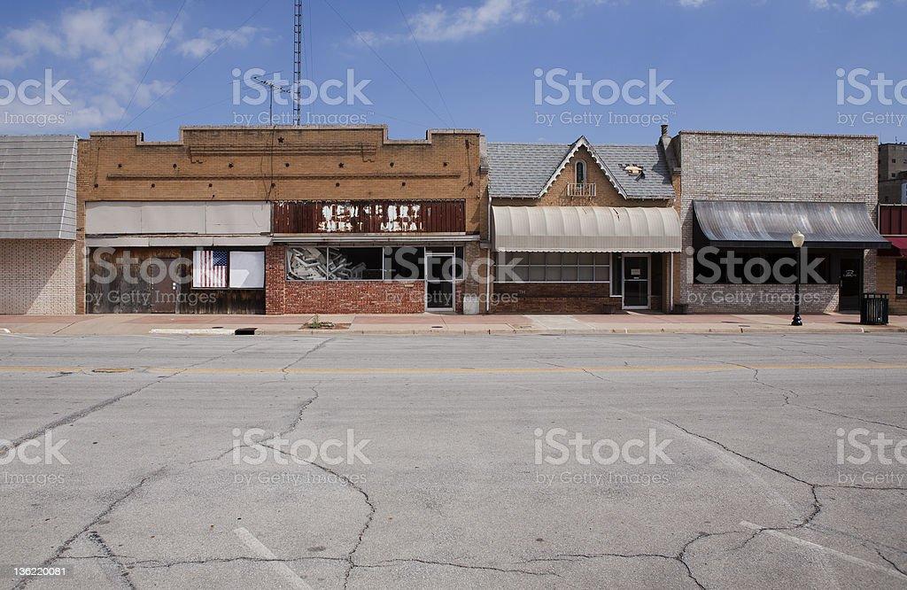 Main street of Chickasha, Oklahoma royalty-free stock photo