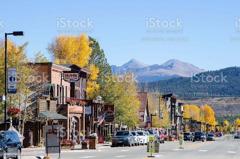 Main Street of Frisco, Colorado stock photo