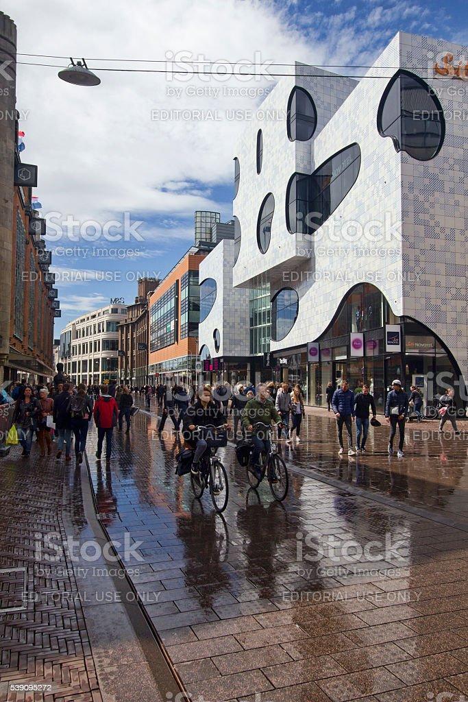 Main street of The Hague, Holland stock photo